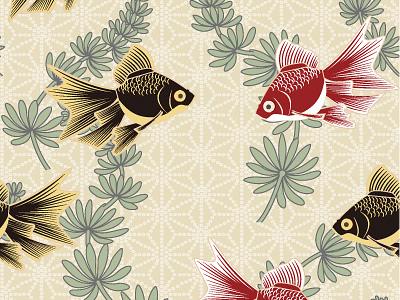 金魚の和柄